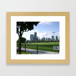 Afternoon Stroll In The Park Framed Art Print