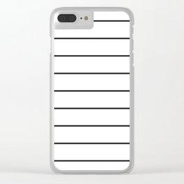 SKINNY STRIPE ((black on white)) Clear iPhone Case