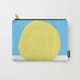 Scandi Blue and Yellow Dot Carry-All Pouch