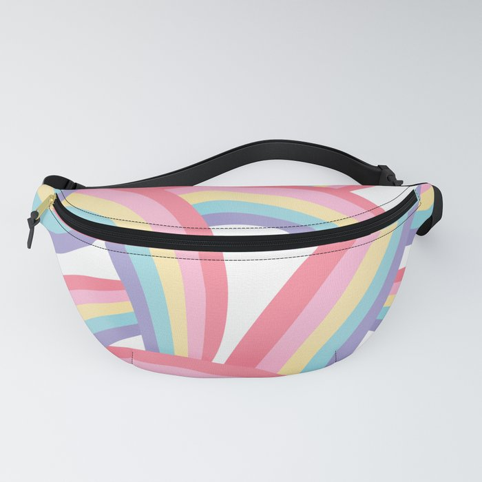 Rainbow abstract pattern Fanny Pack