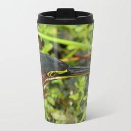 Green Heron Portrait Travel Mug