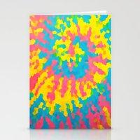 tie dye Stationery Cards featuring Tie Dye by Jillian Stanton