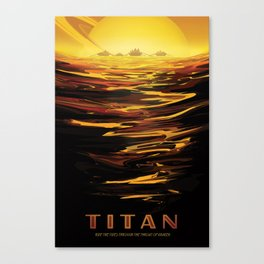 NASA Retro Space Travel Poster #12 - Titan Canvas Print