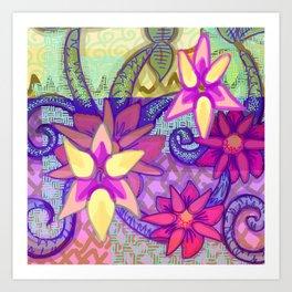 Spring Flower Abstract Art Print