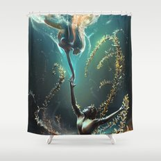 Underwater ballet Shower Curtain