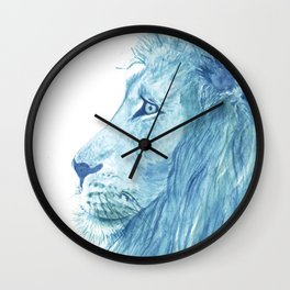 Blue Majestic Lion Wall Clock