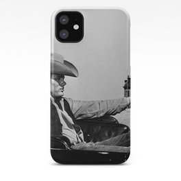Mr. Dean in Cowboy Hat Classic Hollywood Iconic black and white photograph iPhone Case
