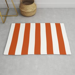 Sinopia - solid color - white stripes pattern Rug