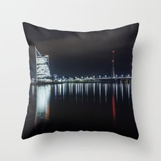 Bridge at evening Throw Pillow