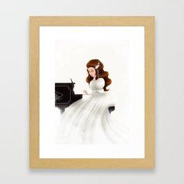Liesl in Labyrinth Framed Art Print