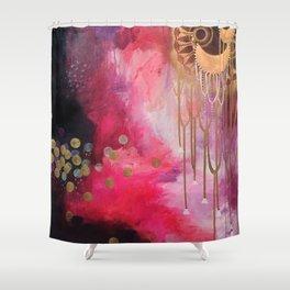 Love Bomb Original Painting by Rachael Rice Shower Curtain