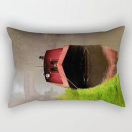 Barge on the Canal Rectangular Pillow