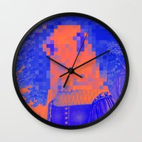 furry Wall Clocks featuring Furry Streets by Tyler Spangler