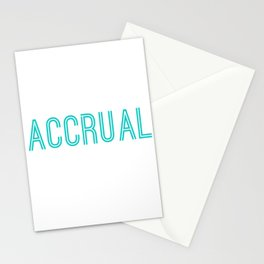 Funny It's Accrual World Accountants CPA Stationery Cards