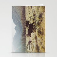 photograph Stationery Cards featuring Three Meadow Moose by Kevin Russ