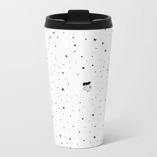 The universe - white Metal Travel Mug