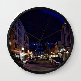 Downtown Juneau at Night Wall Clock