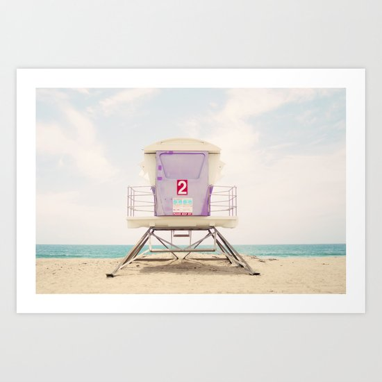 Lifeguard Tower 2  Art Print