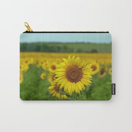 Yellow Sunflowers in Green Field Carry-All Pouch
