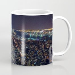 Midtown Manhattan and Freedom Tower Landscape Painting by Jeanpaul Ferro Coffee Mug