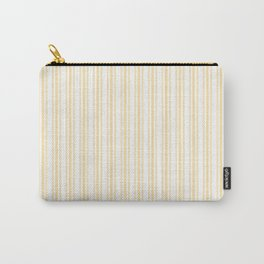 Trendy Large Buttercup Yellow Pastel Butter French Mattress Ticking Double Stripes Carry-All Pouch