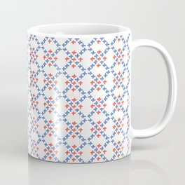 Folkloric Embroidery Sampler Stitches Seamless Vector Pattern Illustration Coffee Mug