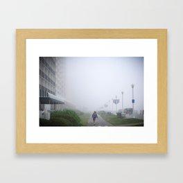 the fog Framed Art Print