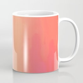 Adrenaline Rush Subsiding: Red Abstract Oil Painting with Streaks and Lines Coffee Mug