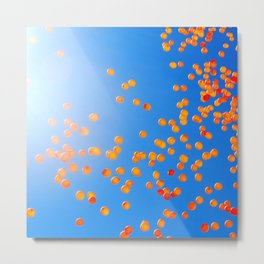 Clemson balloons Metal Print