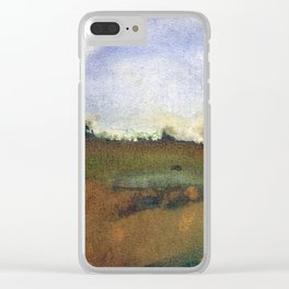English countryside watercolour and ink landscape painting Clear iPhone Case