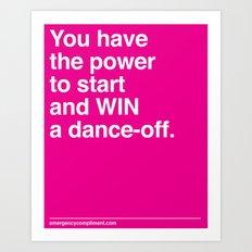 Dance Off Art Print