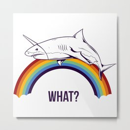 Shark - What? Metal Print