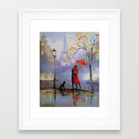 romantic Framed Art Prints featuring Romantic by OLHADARCHUK