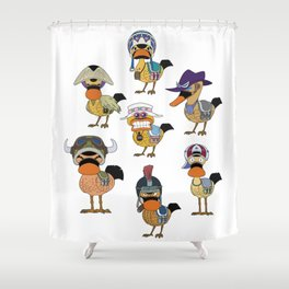 Super Spot-Billed Duck Troops Shower Curtain
