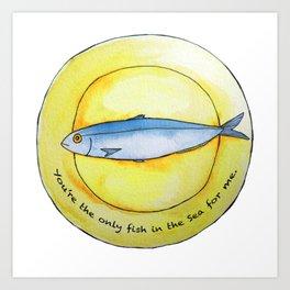 Sardine Platter Art Print