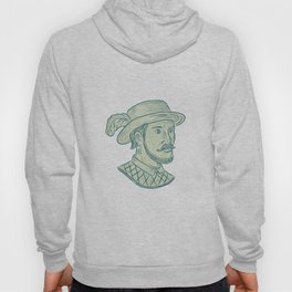 Juan Ponce de Leon Explorer Drawing Hoody