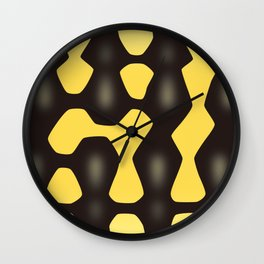 Jungle Carpet Python Wall Clock