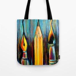 Pen, Pencil, Brush Tote Bag