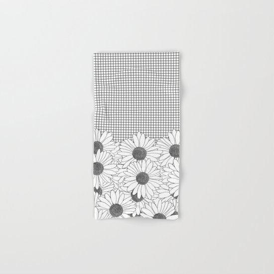 Daisy Grid Hand & Bath Towel