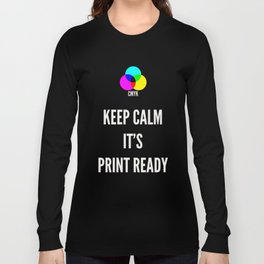 Print Ready Dark Long Sleeve T-shirt