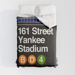 subway yankee stadium sign Comforters
