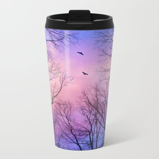 A New Day Will Dawn  (Day Tree Silhouettes) Metal Travel Mug