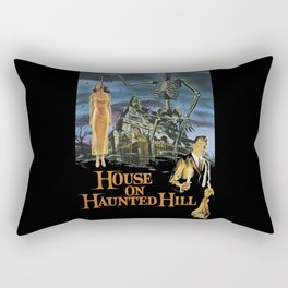 House On Haunted Hill, 1959 Campy Horror Movie Rectangular Pillow