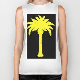 Yellow Palm Tree Biker Tank