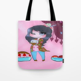 Dessert Life Friendship in Soft Pink Tote Bag