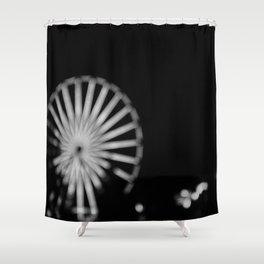 Night Wheel Shower Curtain