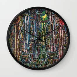 Awakening, people and words Wall Clock