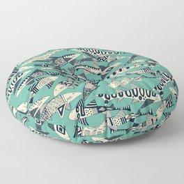 shark party jade Floor Pillow