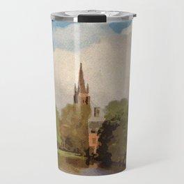 The Lake of Love Bruges art Travel Mug