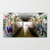grafitti Canvas Prints featuring Belfast Grafitti by colinjohnstonjnrphotography